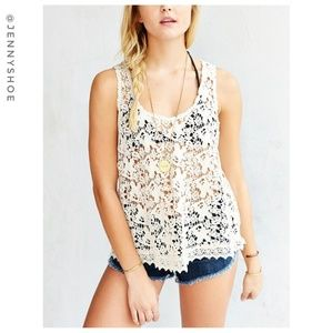 {urban outfitters} daydreaming lace crochet top